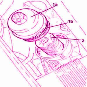 Smontaggio filtro olio motore cartuccia Fiat 500 1.3 Mjet