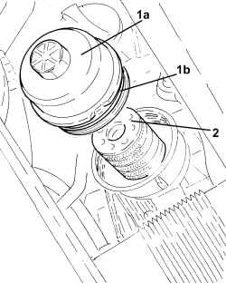 cartuccia filtro olio Fiat 500 1.3 Mjet.