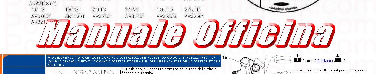 ALFA ROMEO 156 Manuale officina