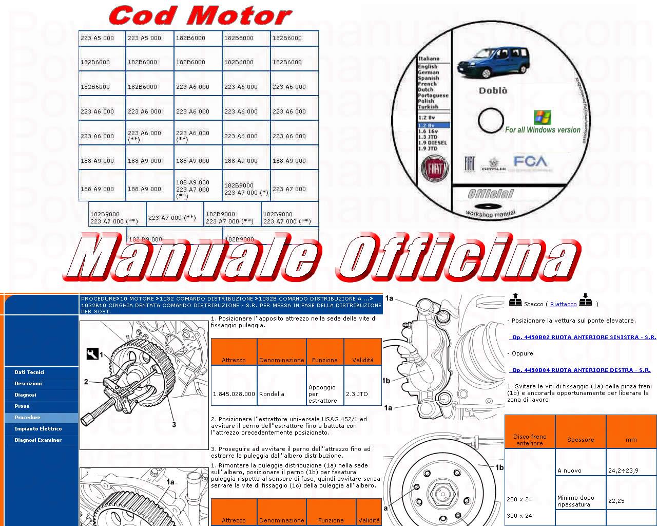 FIAT DUCATO Officina e manuale di servizio 2006 a 2016 PDF